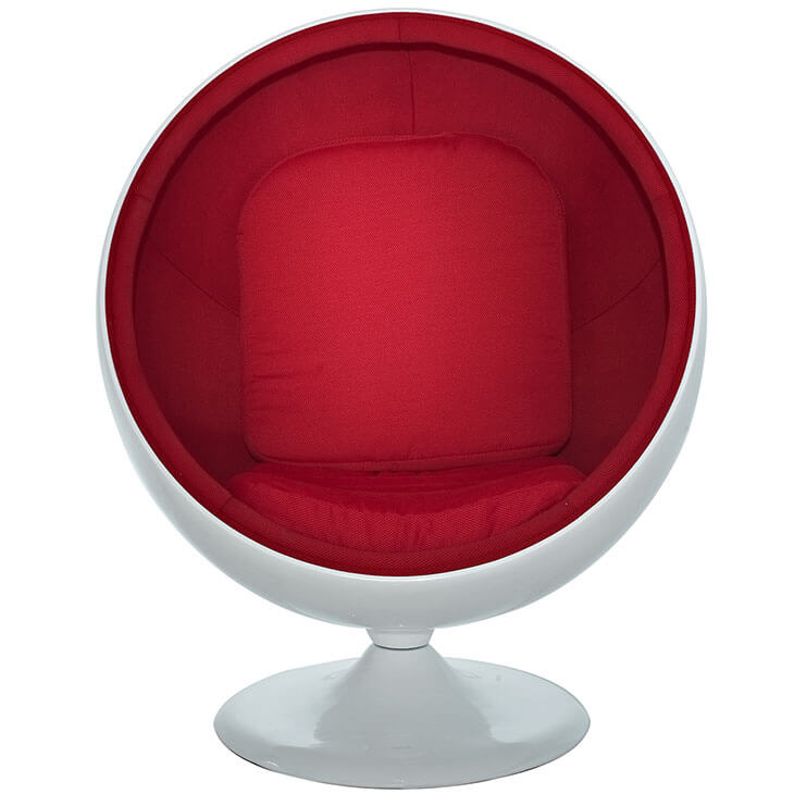 private space ball chair red 2