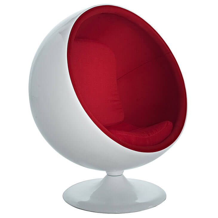 private space ball chair red