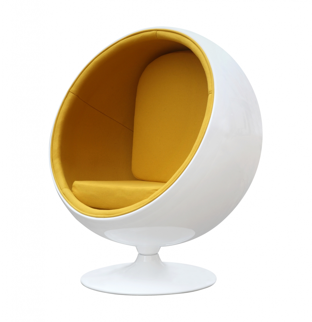 private space ball chair yellow 2