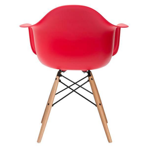 red ceremony armchair