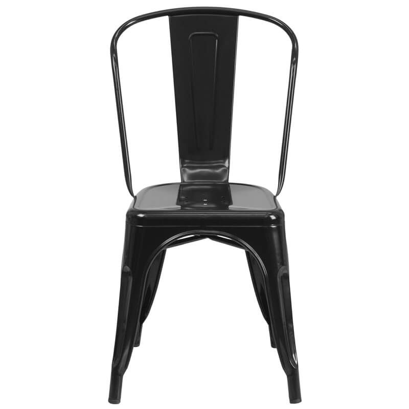 restaurant black metal chair
