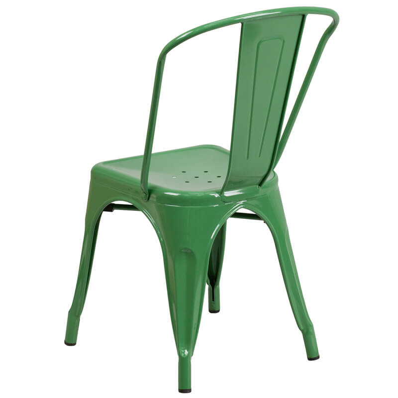 restaurant chair green metal