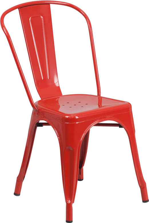 restaurant metal chair red