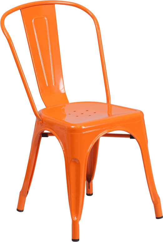 restaurant orange chair