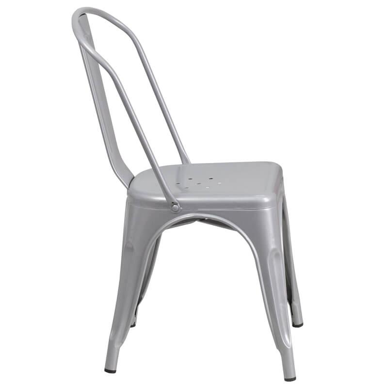 tonic chair metal silver