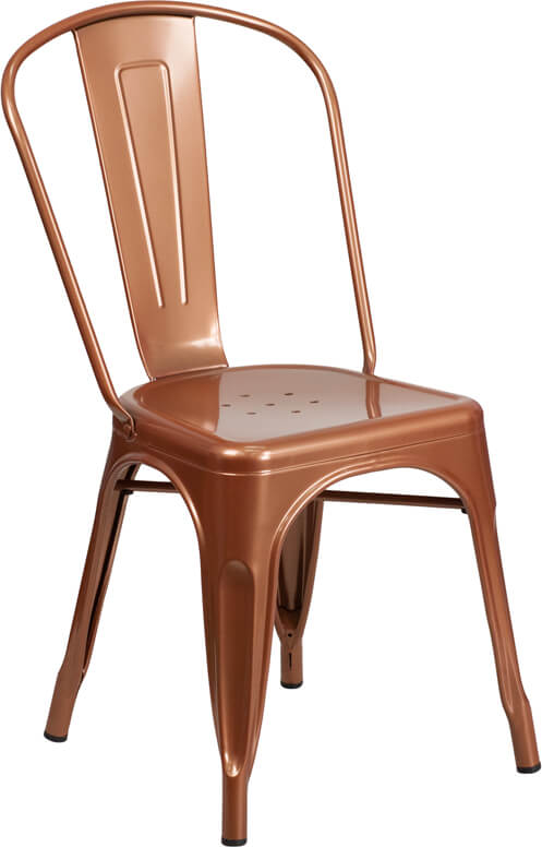 tonic metal chair copper