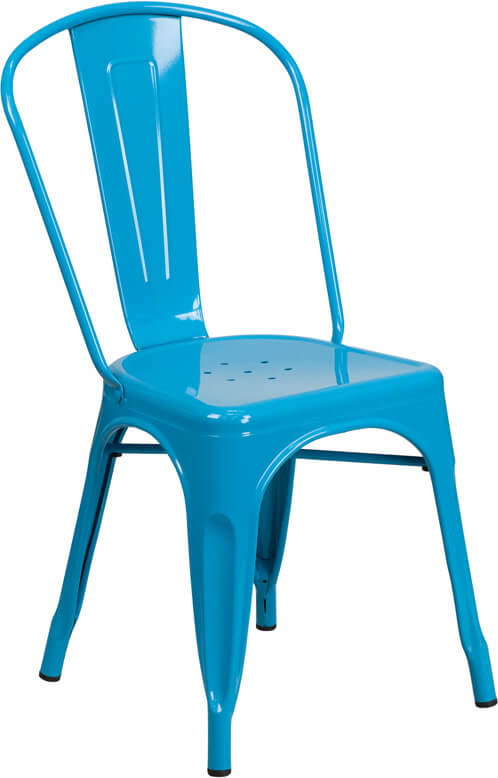 tonic metal chair sky blue