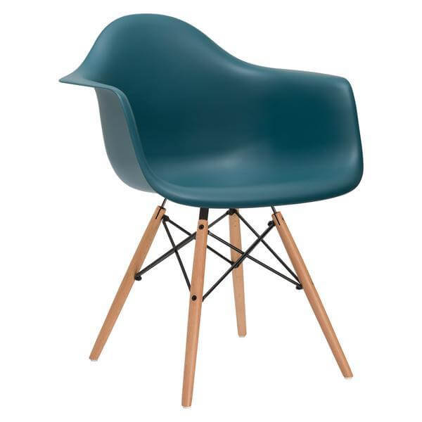 turquoise eames chair