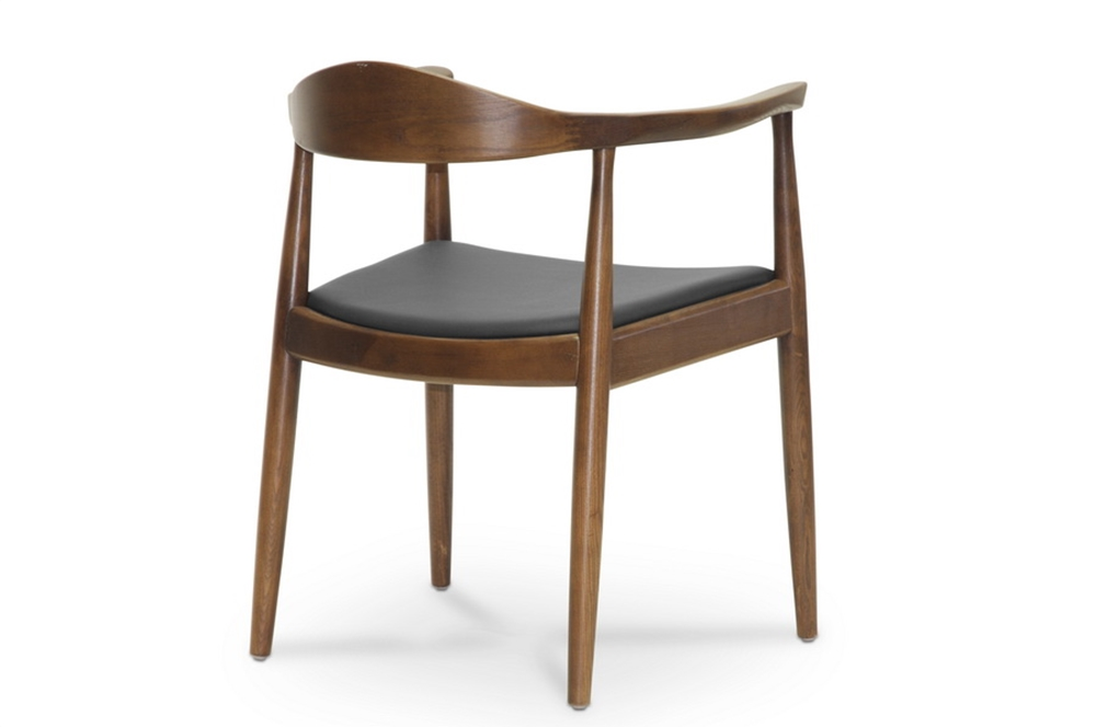 walnut wood 1919 mid century chair 2