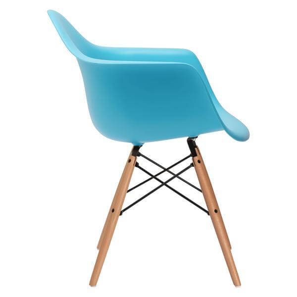 wood blue office chair