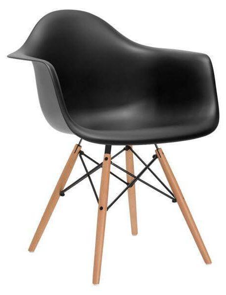 wooden black armchair 461x600