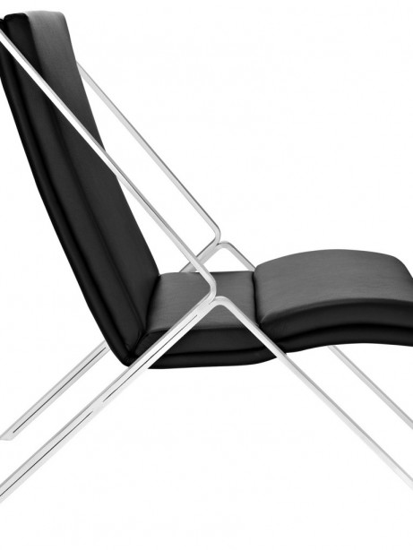 Black Leather Balance Rocking Chair 2 461x614