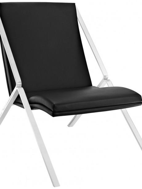 Black Leather Balance Rocking Chair 461x614