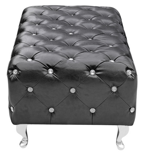 Black Leather Jeweled Bench 4 461x503