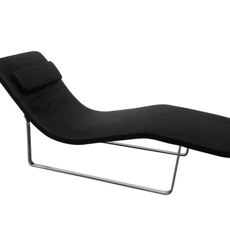 Black Leather Orbit Lounge Chair 2 461x501