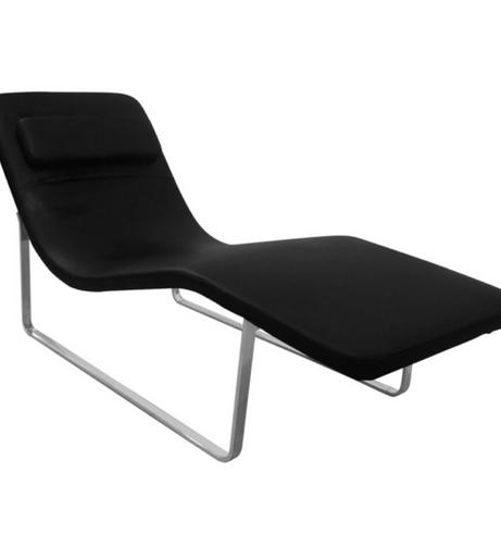 Black Leather Orbit Lounge Chair 461x502