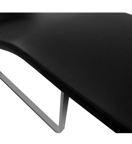 Black Leather Orbit Lounge Chair 5 461x503