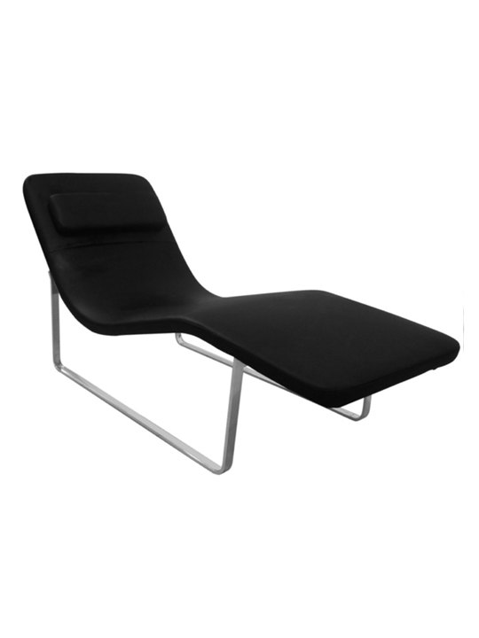 Black Orbit Leather Lounge Chair