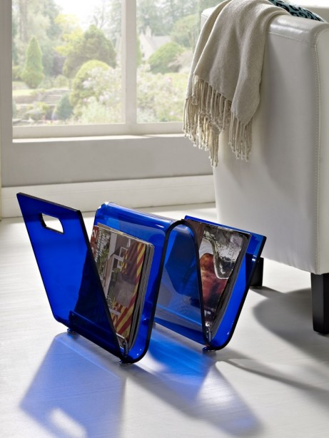Blue Acrylic Wave Magazine Rack 4 461x614