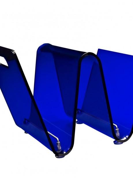 Blue Acrylic Wave Magazine Rack 461x614
