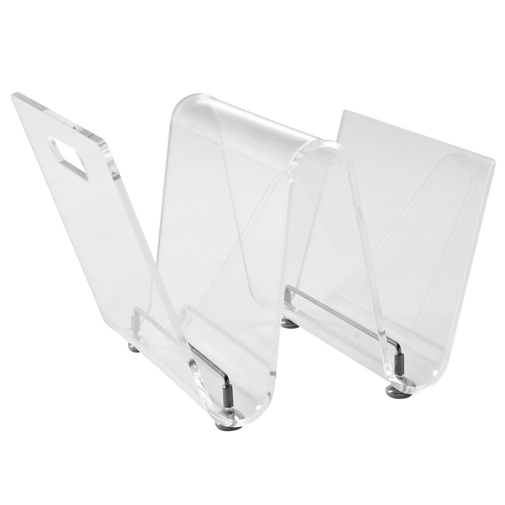 Clear Acrylic Wave Magazine Rack