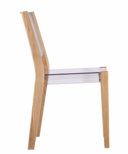 Clear Wood Square Chair 4 e1435147356454