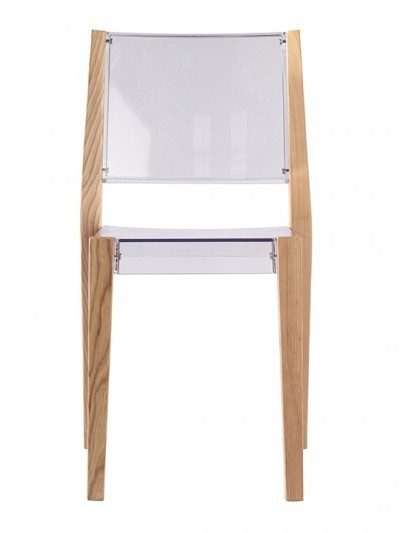 Clear Wood Square Chair2 e1435092325548