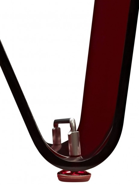 Red Acrylic Wave Magazine Rack 3 461x614