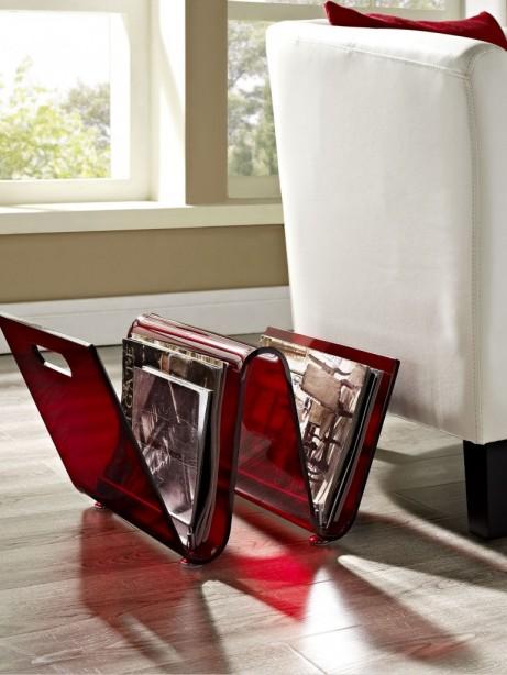 Red Acrylic Wave Magazine Rack 4 461x614