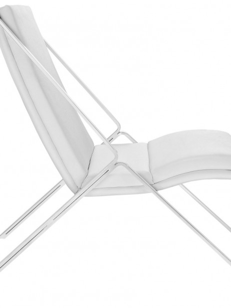 White Leather Balance Rocking Chair 2 461x614