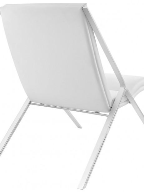 White Leather Balance Rocking Chair 3 461x614