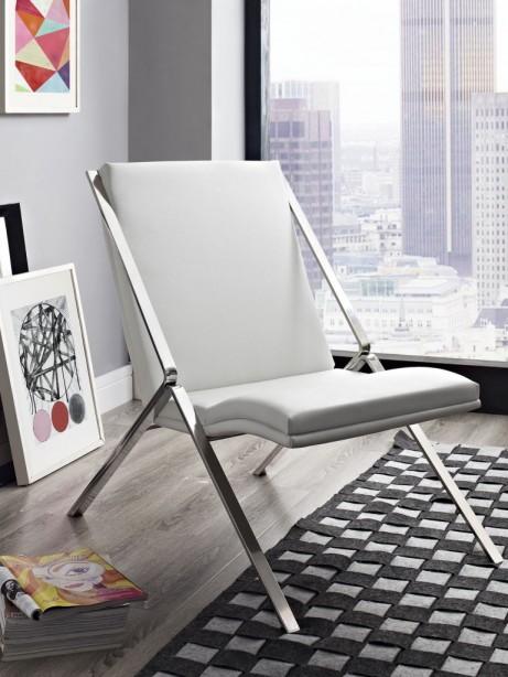 White Leather Balance Rocking Chair 4 461x614