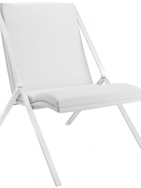 White Leather Balance Rocking Chair 461x614