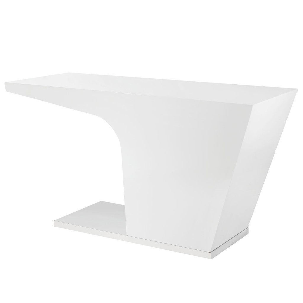 White Streamline Desk 3