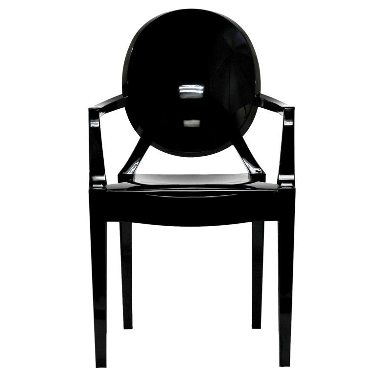 Black Throne Chair Ghost Chair