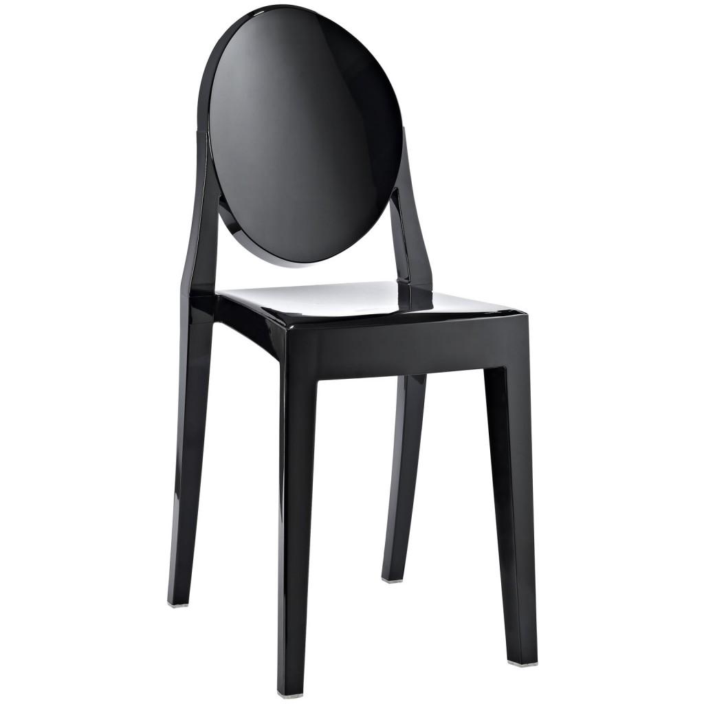 Black Throne Side Chair 3