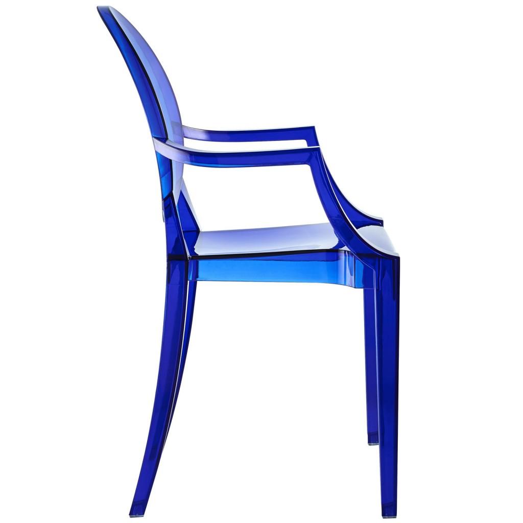 Blue Transparent Throne Chair 3
