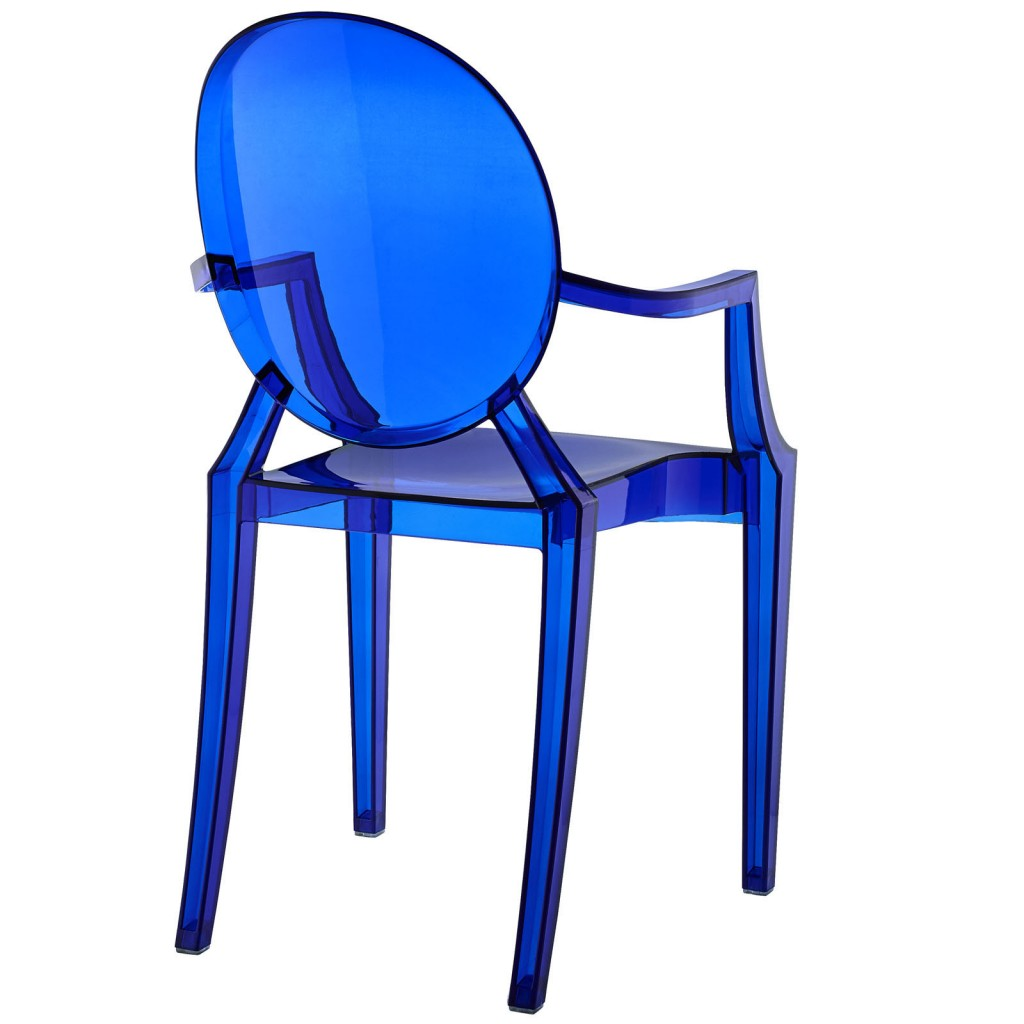 Blue Transparent Throne Chair 4