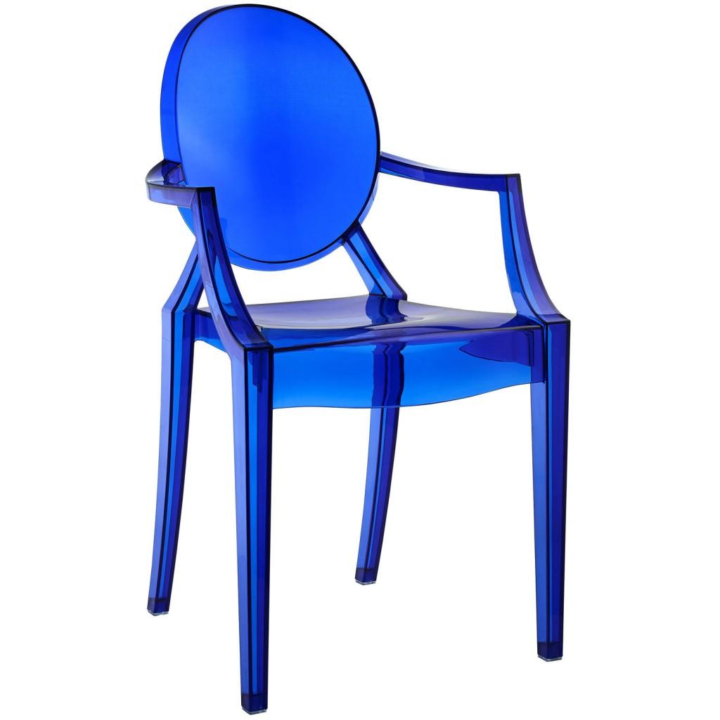 Blue Transparent Throne Chair