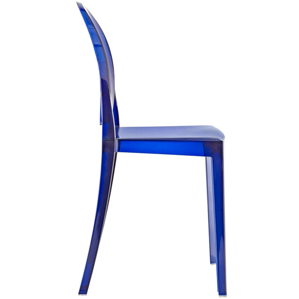 Blue Transparent Throne Side Chair 2