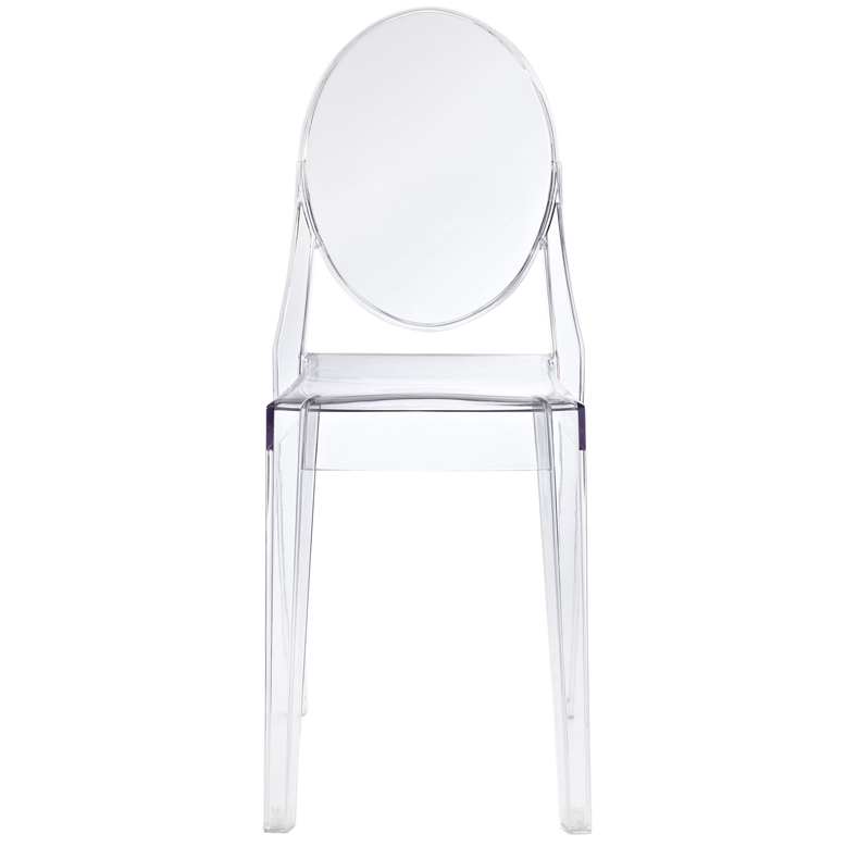 Clear Throne Side Chair
