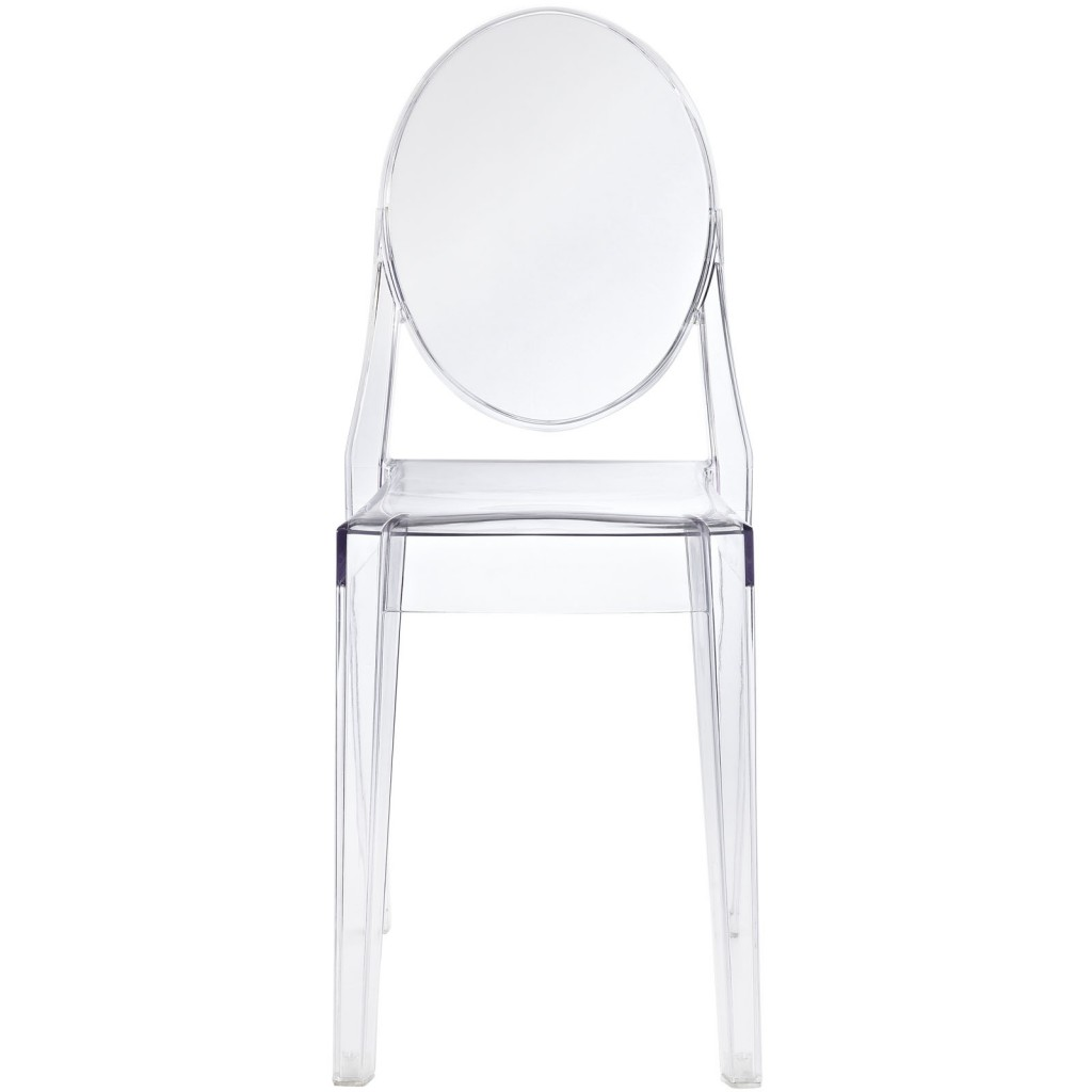 Clear Transparent Throne Side Chair 2