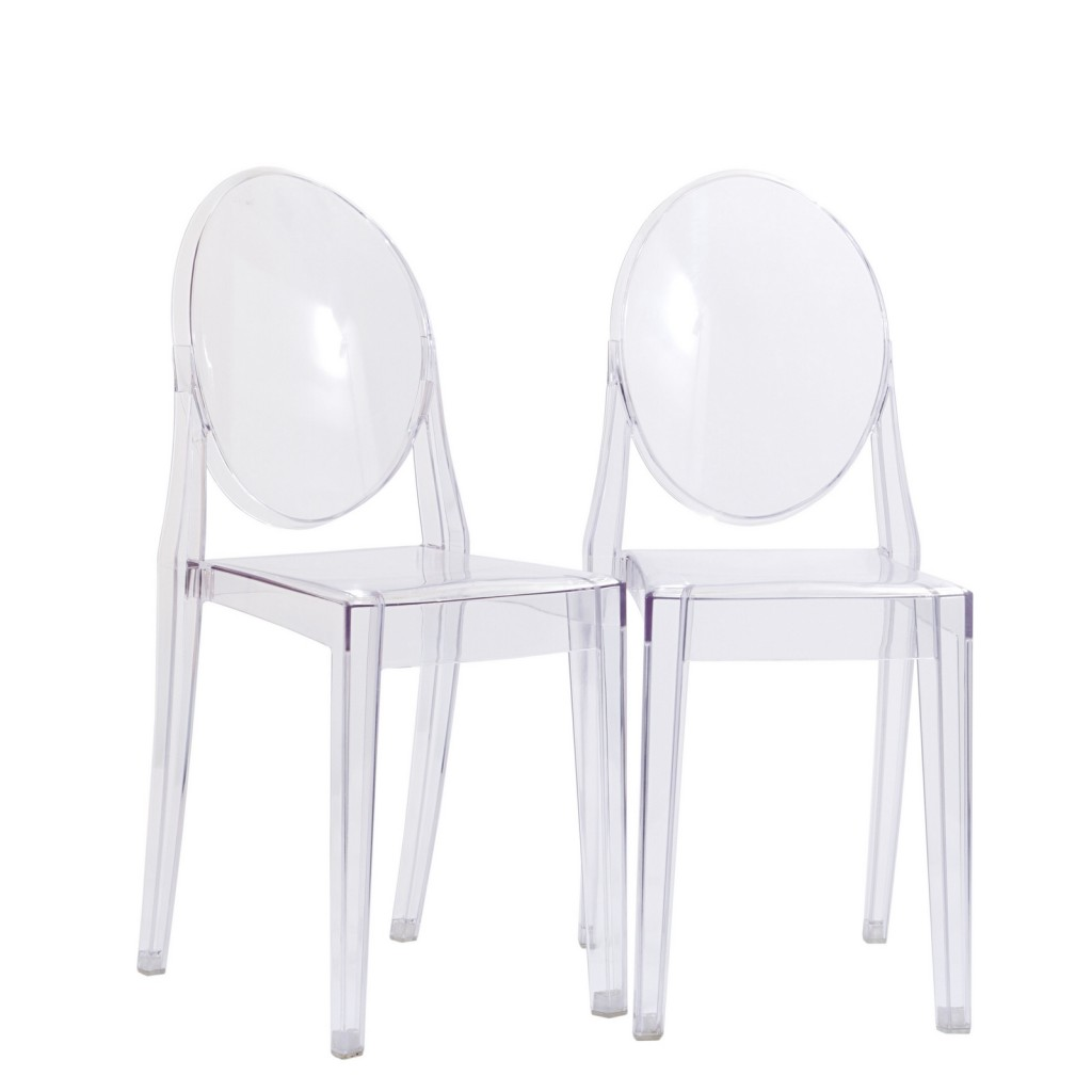 Clear Transparent Throne Side Chair 3