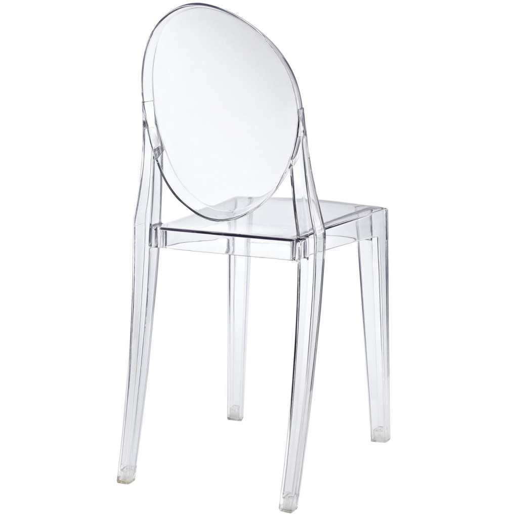 Clear Transparent Throne Side Chair