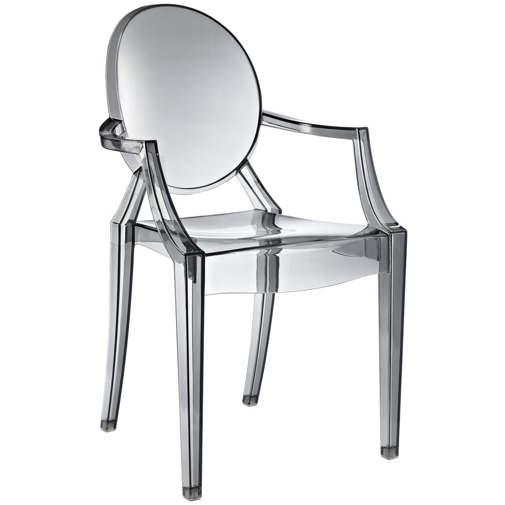 Gray Transparent Throne Chair