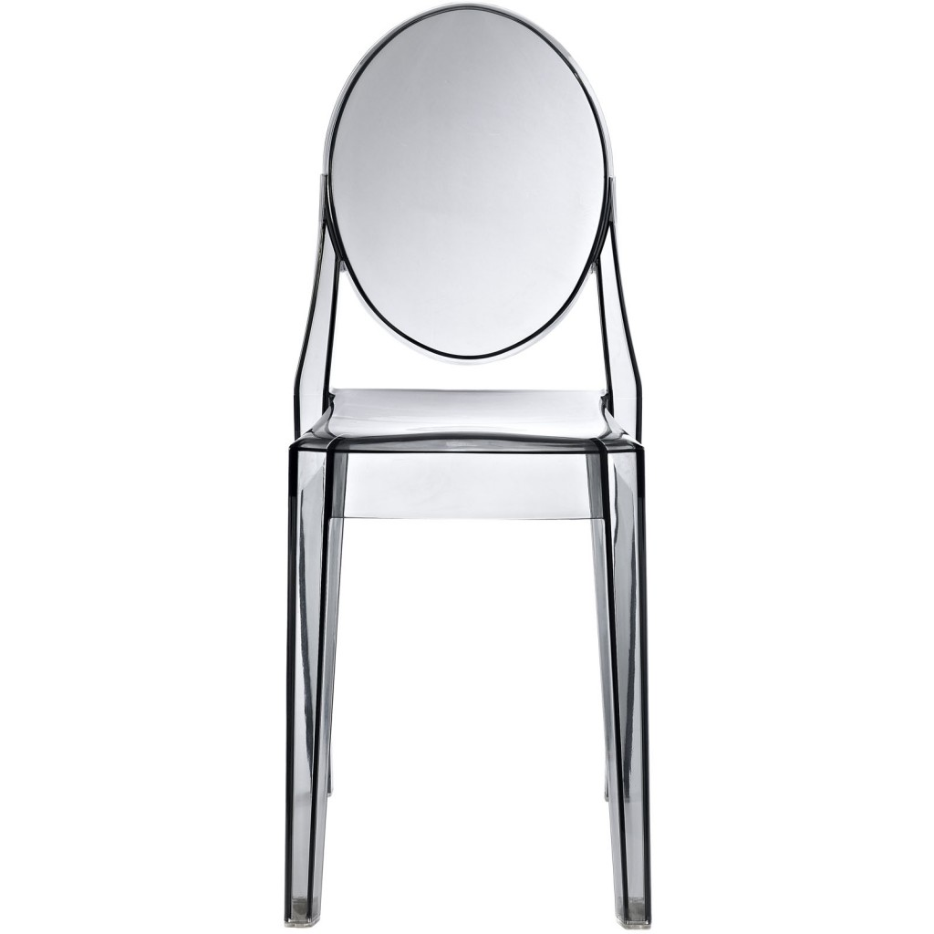 Gray Transparent Throne Side Chair 2