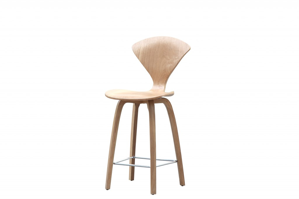 Natural Wood Spider Barstool 2