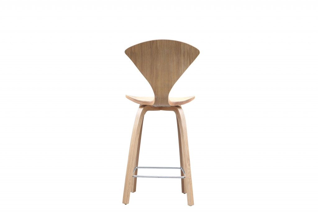 Natural Wood Spider Barstool 5