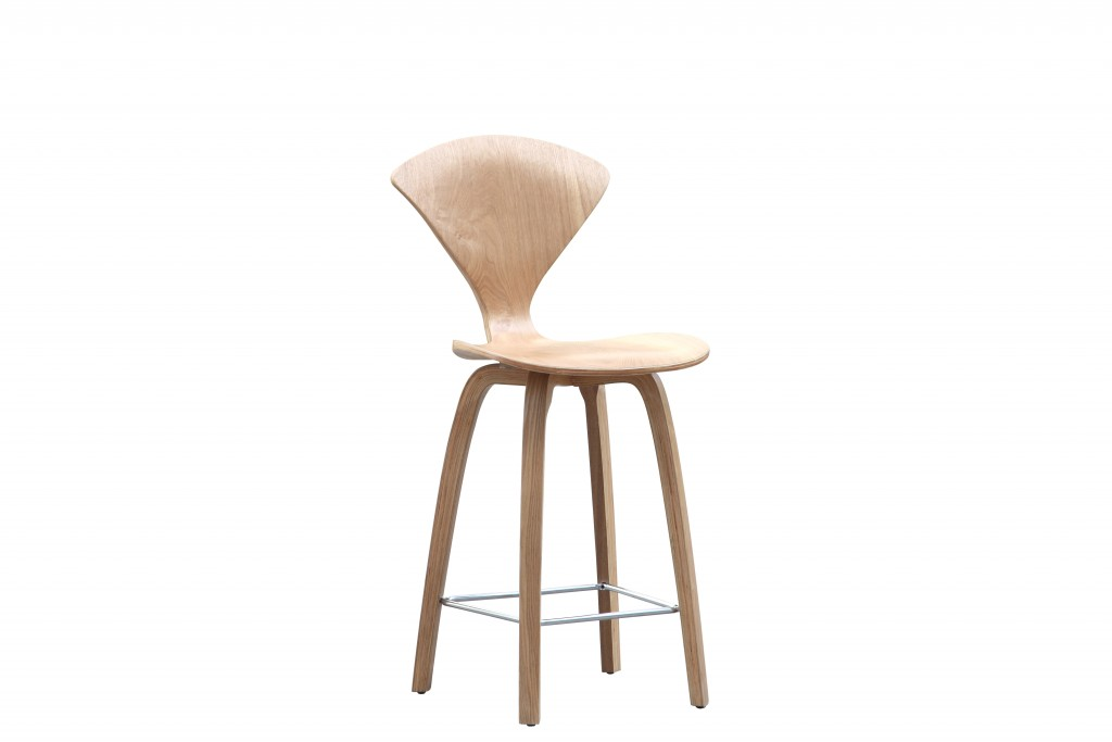 Natural Wood Spider Barstool