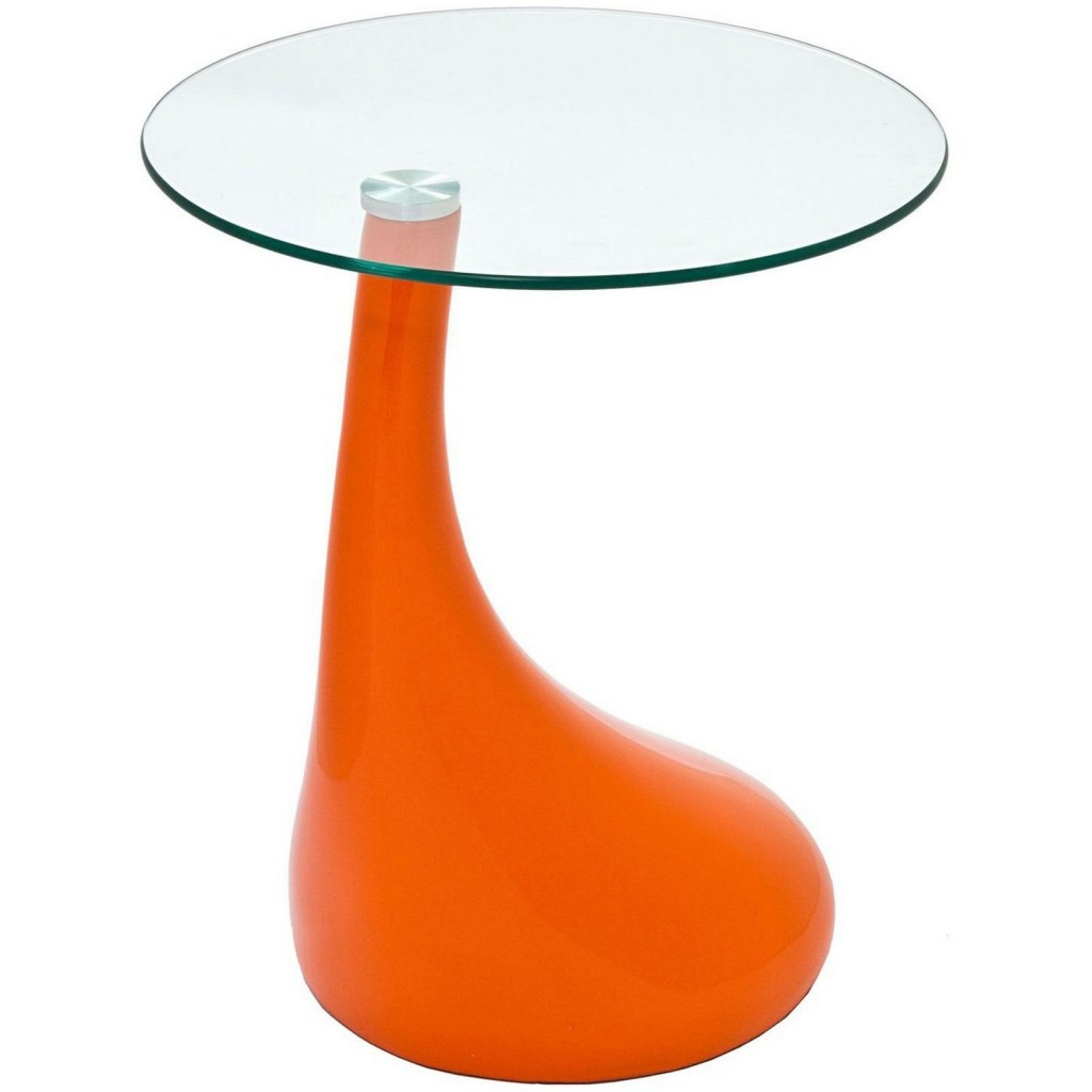 Orange Droplet Side Table